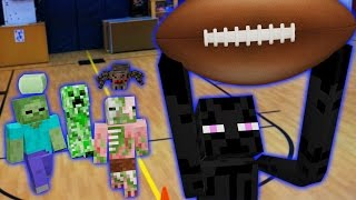 Monster School in Real Life Episode 7: Football - Minecraft Animation