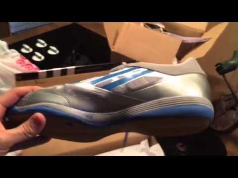 Adidas Adizero table tennis shoes silver blue - YouTube