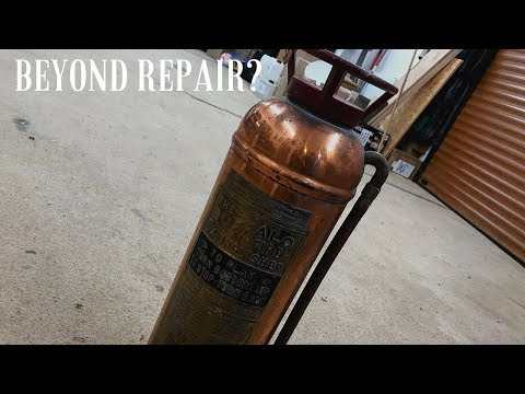 Restoration - Extremely Pitted Fire-Extinguisher Restore.