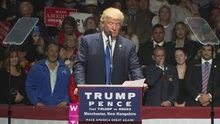Trump reads letter from supporter Bill Belichick at rally