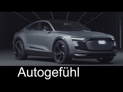 Audi electric SUV concept e-tron Sportback - Preview