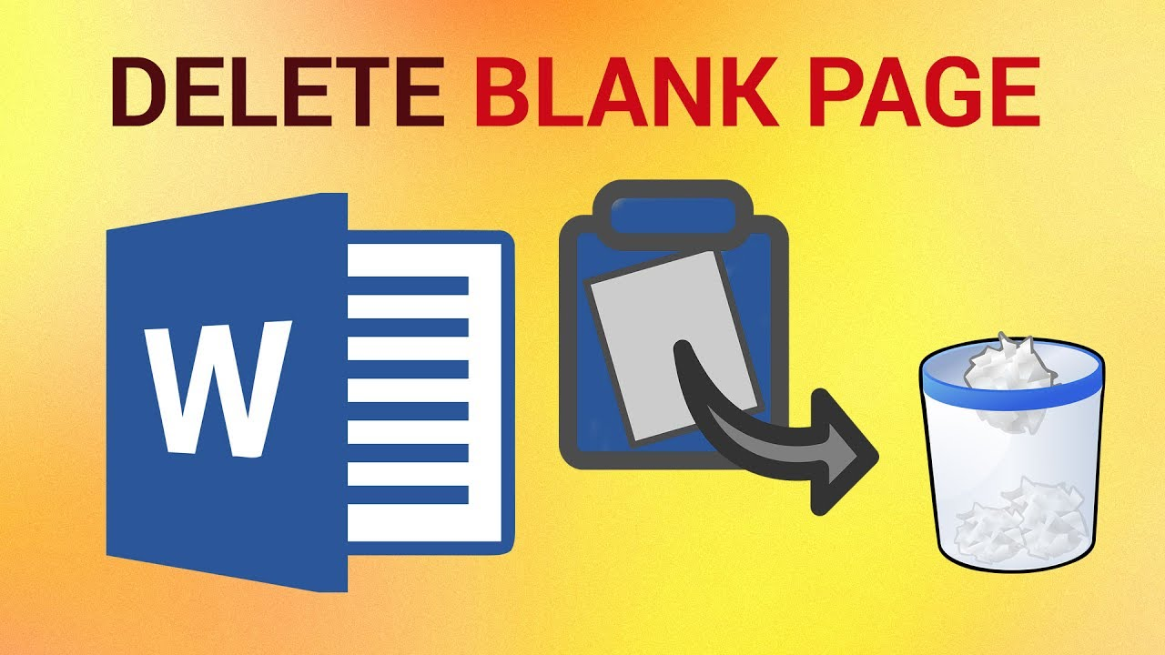 word how to delete the blank page lines