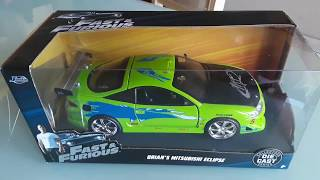 Brian's Green Mitsubishi Eclipse from Fast and Furious Toy Review