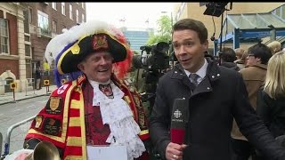 A royal word from the town crier