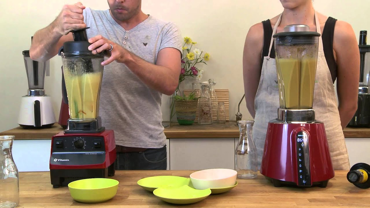 Vitamix vs BioChef Living Food Blender Making Hot Soup YouTube