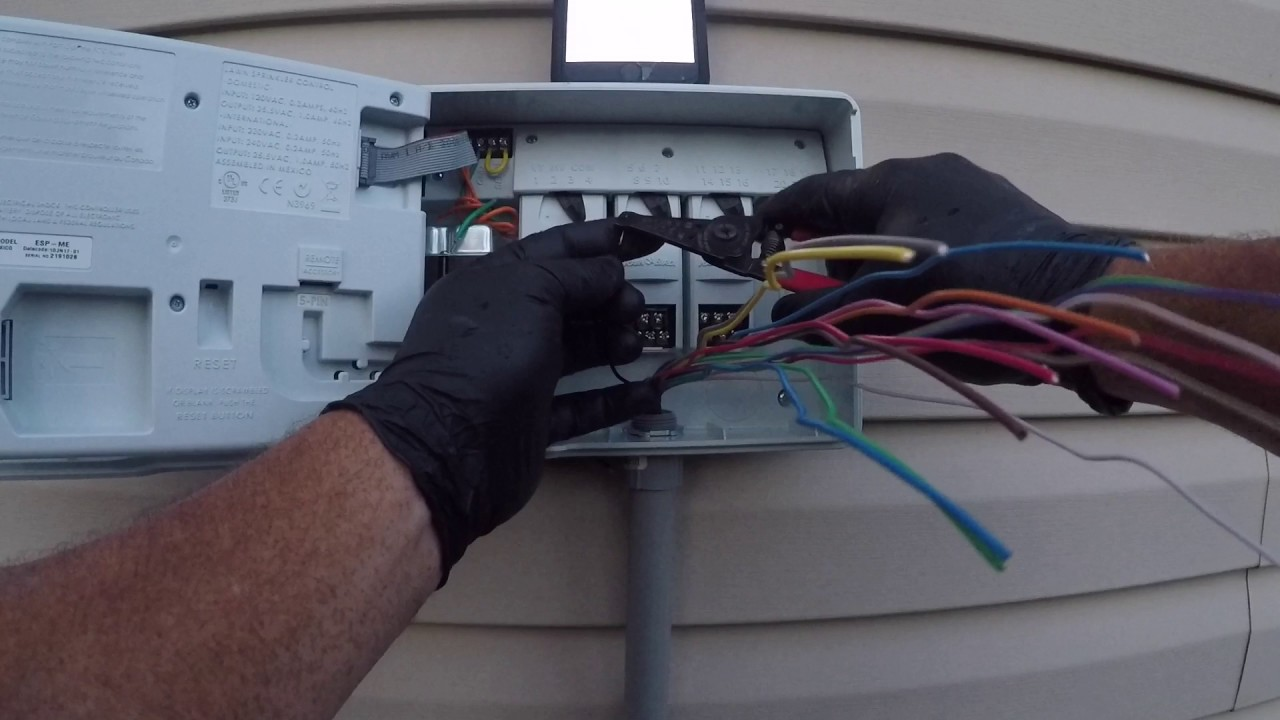 small resolution of rainbird esp me irrigation controller install