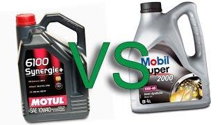 Motul 6100 Synergie+ 10W40 vs Mobil 1 2000 X1 10W40 test