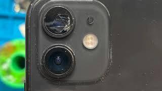 파손!! 아이폰 11 후면 카메라 유리 교체 방법.