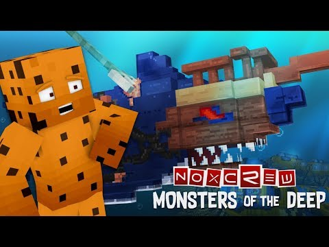 THAT'S A BIG SHARK! - Monsters of the Deep Adventure Map (Part One)