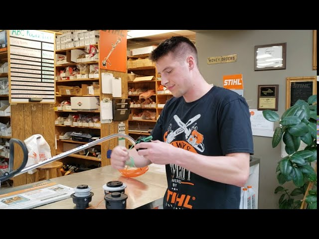 HOW TO: Respool your Stihl Trimmer Head