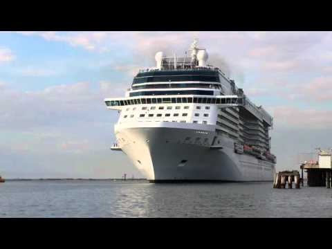 Celebrity Solstice moves away from Outer Harbour wharf at Port Adelaide