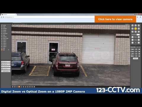Digital vs Optical Zoom on 2 Megapixels 1080P CCTV Camera
