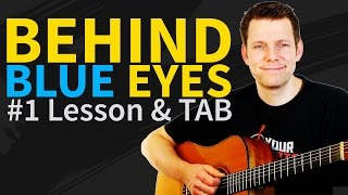 How to play Behind Blue Eyes Guitar Lesson & TAB - Limp Bizkit