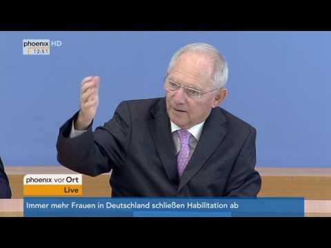 Wolfgang Schäuble zum Regierungsentwurf zum Haushalt 2018 und Finanzplan bis 2021 am 28.06.17