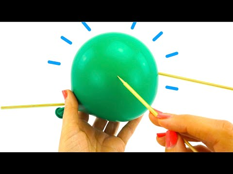 Эксперименты с воздушными шариками  Видео для детей