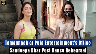 Beautiful Tamannaah Bhatia at Puja Entertainment office for her New Film, Sandeepa Dhar Spotted