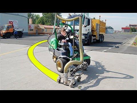 World's Amazing Modern Road Marking Machine – Intelligent Technology