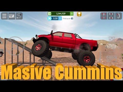 Gigabit Off-Road   MASSIVE CUMMINS!   Mobile/iPhone Off-Roading Game Part 2