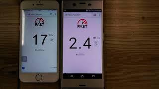 台哥大限速 兩台手機對照