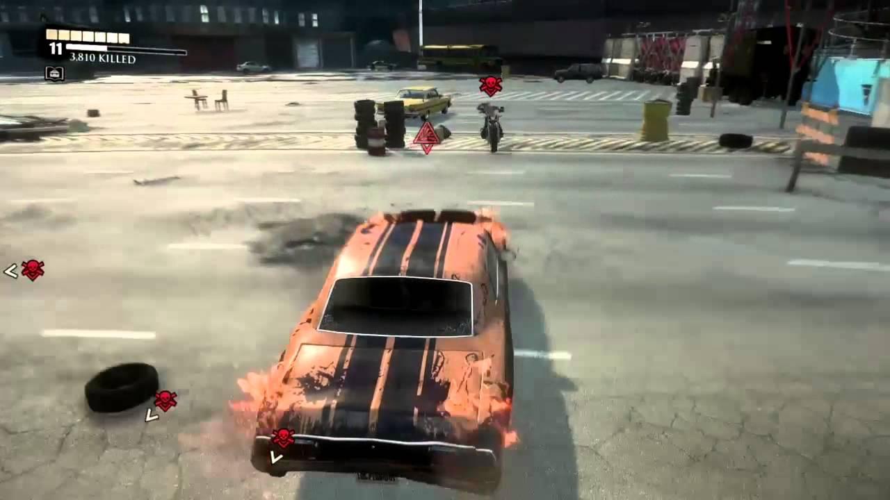 Dead Rising 3 Bikers Destroy My Car Captured Using Game Dvr