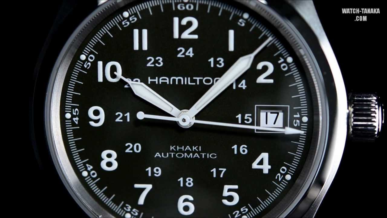 uk availability 9f617 883c6 HAMILTON Khaki Field Auto H70455863 ハミルトン カーキフィールド オート