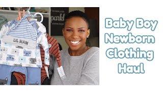 Baby Boy Clothing Haul   Newborn to 6 Months   Angelle