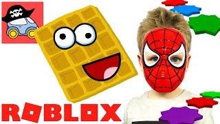 💢 Человек-паук в ROBLOX Побег в рот к ГИГАНТСКОЙ печеньке в Роблокс Escape Ice Cream Obby Жестянка