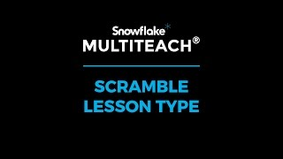 Touch screen solution for classrooms - video tutorial MultiTeach - Scramble