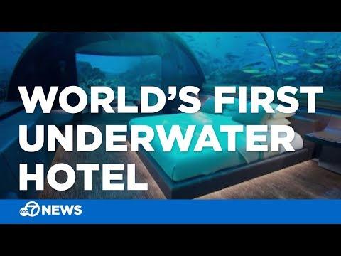 World's first underwater hotel opens in Maldives