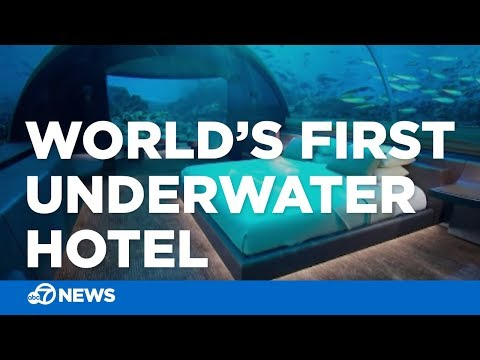 World's first underwater hotel opens in Maldives