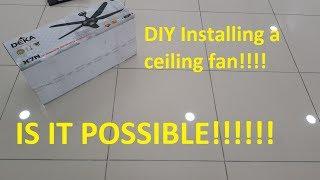How to install a ceiling fan - Deka X7N