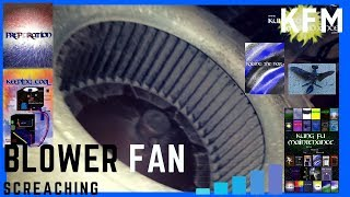 Indoor Blower Motor Wheel Rubbing Loud Air Conditioner Screaching Inside HVAC Heater Closet Fix