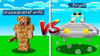 MINECRAFT NOOB FANS vs PRO FANS!