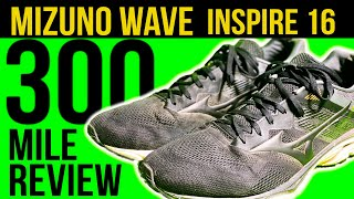 Mizuno Wave Inspire 16 Shoes after 300 miles - Running shoes for pronation | Shoes for stability
