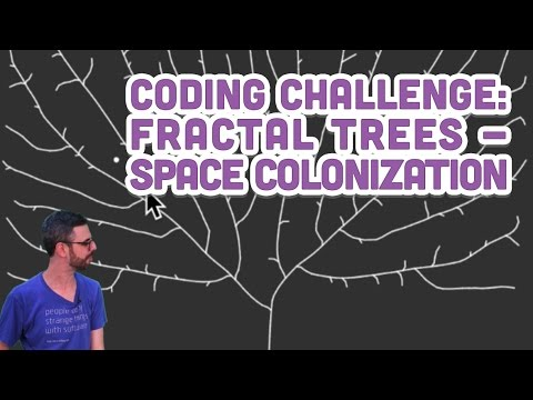 Coding Challenge #17: Fractal Trees - Space Colonization