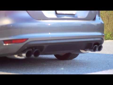 mk jetta gli quad tip exhaust youtube