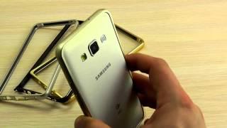 ОБЗОР: Шикарный Ультратонкий Металлический Бампер для Samsung Galaxy A5 Duos SM-A510 2016 года