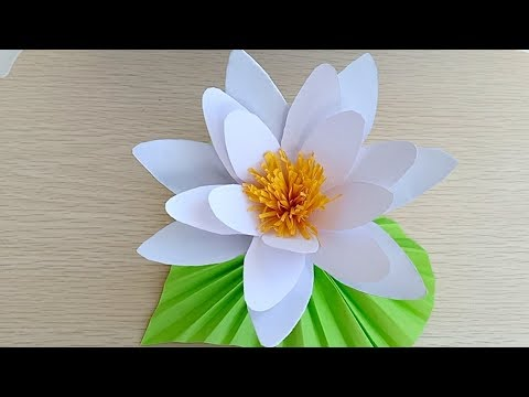 How to Make Water Lily/DIY paper Water Lily/makeing Water Lily With Paper
