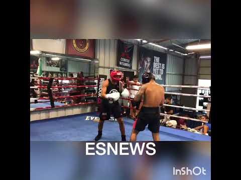 UFC Superstar Jose Aldo sparring World champ Abner Mares