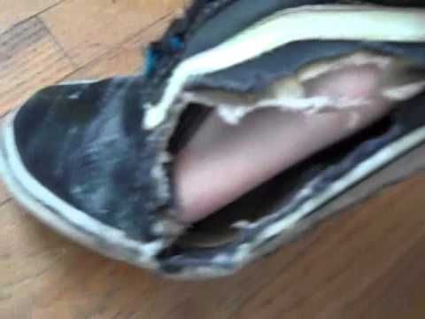 78157e2992 Trashed worn out USA made vans old skool shoes - YouTube