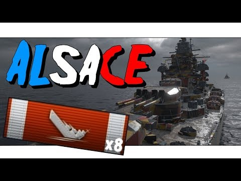 ► Alsace - 8kills - NEW TIER 9 ||  World of Warships