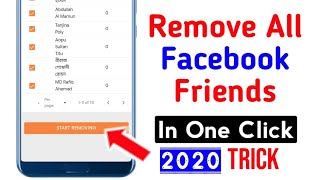 How To Unfriend All Facebook Friends In One Click | Delete All Fb Friends At Once  -  2020 screenshot 5