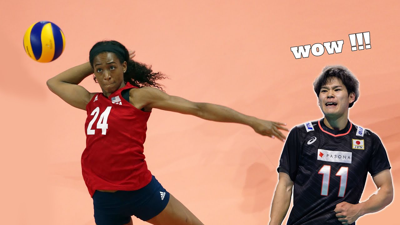 Yuji Nishida in Women's Volleyball | Chiaka Ogbogu | Monster of the Vertical Jump (HD)