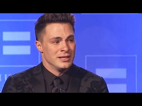 Colton Haynes Breaks Down During Inspirational HRC Speech: 'Tonight I Can Be Myself'