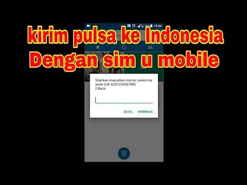 Cara Transfer Pulsa Ke Indonesia Dengan U Mobile Sim Card Youtube