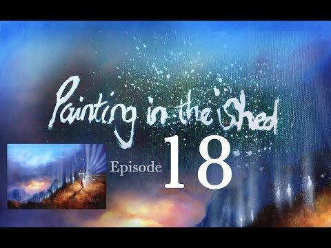 Painting in the Shed 18 – How to paint Acrylic Sky and people