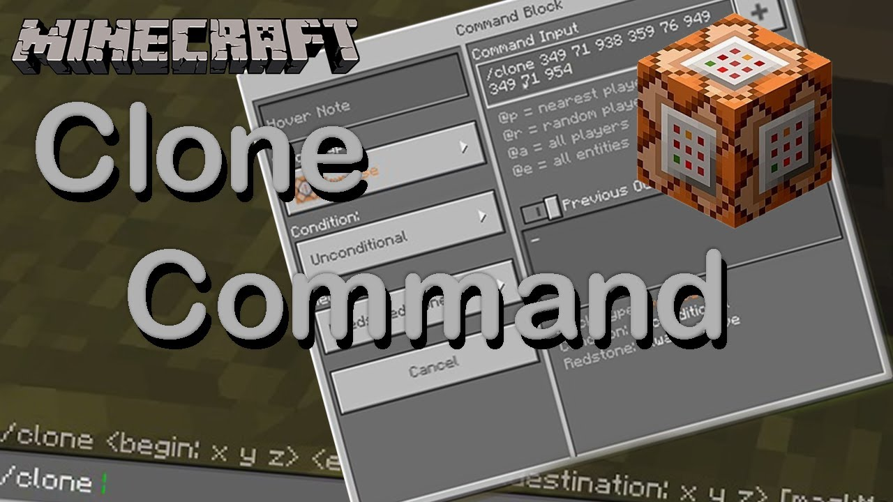 How to use a Clone Command in Minecraft