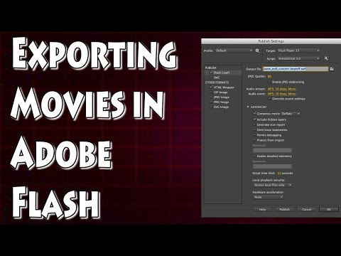 Adobe Flash Tutorial- How to Export Flash Files