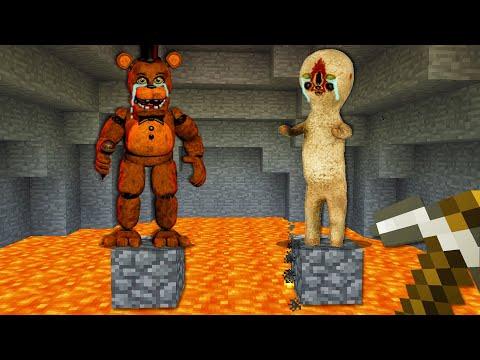 「프레디 VS SCP173」구해줄까? [ 괴물 친구 ] Freddys VS SCP173 in minecraft