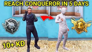 How To Reach Conqueror In 5 Days With 10+ KD In PUBG Mobile